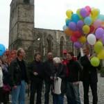 Gemeinsam mit Interessierten ließen wir auch hier 99 Luftballons in den Himmel steigen und warben für ein breites Engagement gegen Rechtsextremismus.