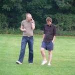 Eine Diskussion unter Freunden: Jan Kiese und Thomas Engler.