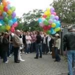 """Der SPD Kreisverband Anhalt- Bitterfeld hatte unter dem Motto """"Bunt statt Braun""""eine breite Aktion für Weltoffenheit und Toleranz in den Städten Bitterfeld- Wolfen, Zerbst und Köthen ins Leben gerufen."""