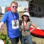 Frank Pelzer und Petra Fritsche genossen sichtlich die tolle Stimmung beim Goitzsche- Marathon.