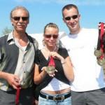 Harald, Jeanine und Chris ließen sich von der guten Atmosphäre und dem Ergebnis anstecken.