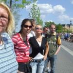 Mit Spannung warteten zahlreiche SPD- Mitglieder und Zuschauer auf den Zieldurchlauf der SPD- Staffel.