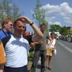 Auch Kurt- Jürgen Zander verfolgte aufmerksam das Geschehen. Wann würde unser Schlussläufer im Zielbereich eintreffen?