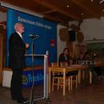 Ulrich Stockmann richtete als Mitglied im europäischen Parlament ein Grußwort an die SPD Anhalt- Bitterfeld.