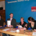 Das Präsidium: Alles im Griff hatten Andreas Dittmann, Julia Lerche, Matthias Hirsekorn und Ursula Zeidler bei der Leitung des Kreisparteitages.